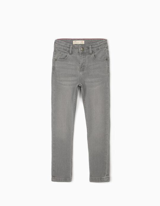 Slim Leg Denim Trousers for Boys, Grey