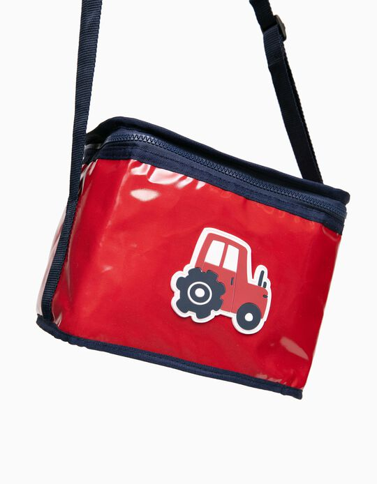 Thermal Lunch Bag for Boys 'Tractor', Red