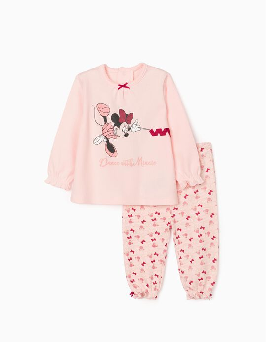 Pijama para Bebé Menina 'Dance with Minnie', Rosa