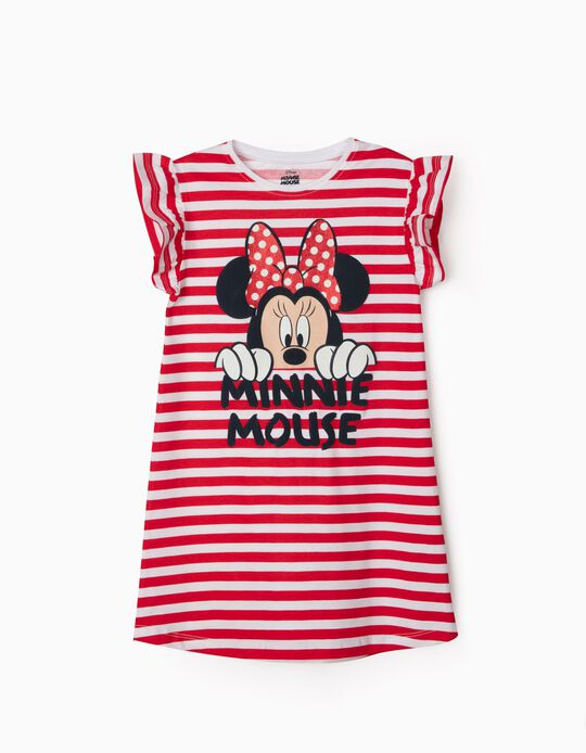 Striped Dress for Girls, 'Minnie Mouse', Red/White