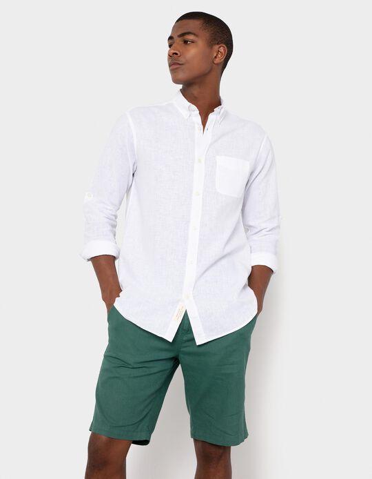 Cotton and Linen Shirt, Men