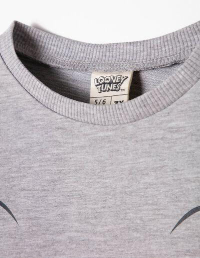 Sweatshirt Curta Tweety Cinzenta