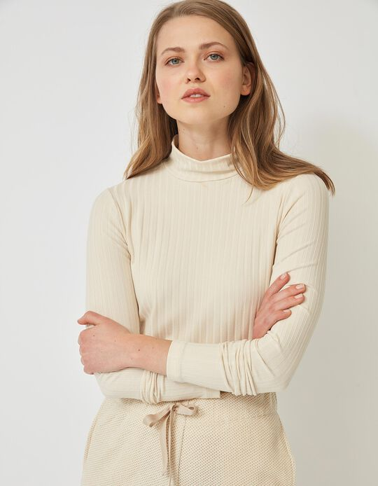 Rib Knit Jumper, for Women