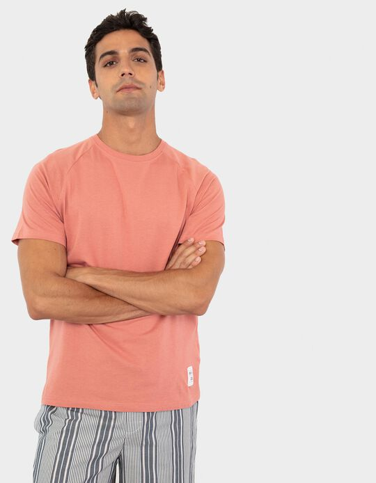 T-shirt de Pijama, Homem, Laranja
