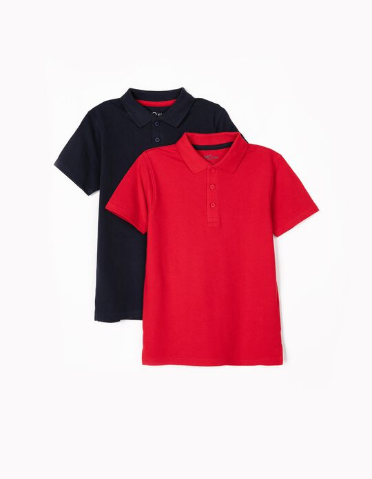 Polo liso, pack de 2
