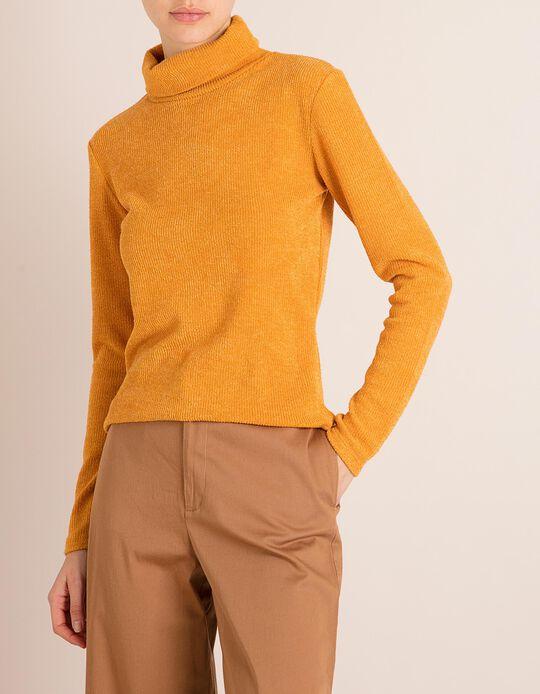 Camisola Gola Alta Amarela