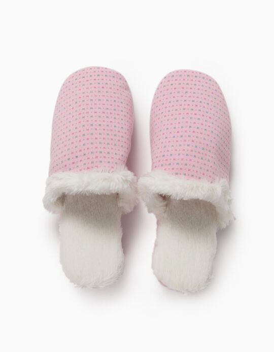 Pink Bedroom Slippers, for Women