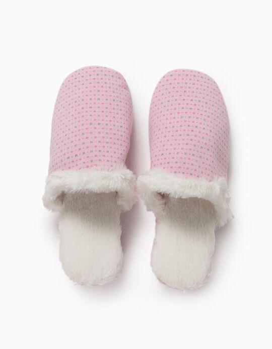 Pink Bedroom Slippers, for Women