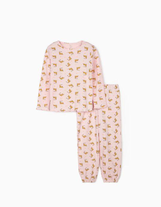 Pijama para Menina 'Queen Leopard', Rosa