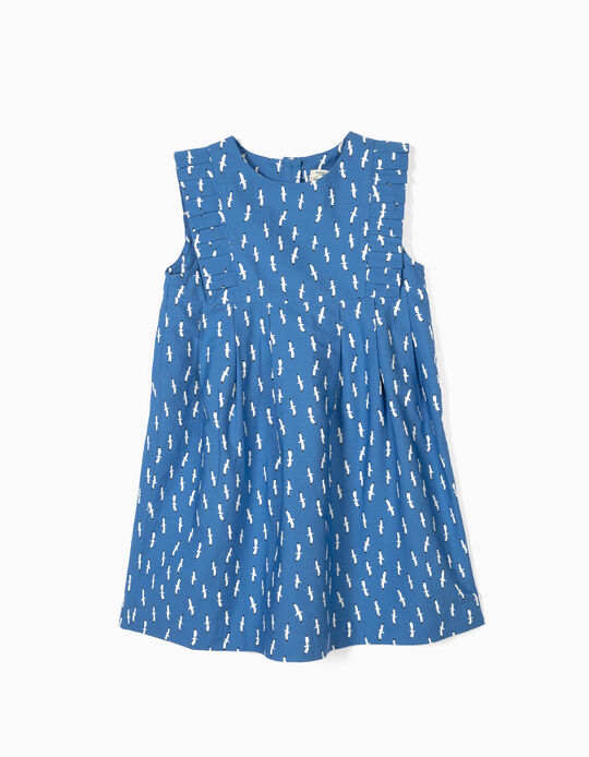 Vestido para Menina 'B&S' Gaivotas, Azul