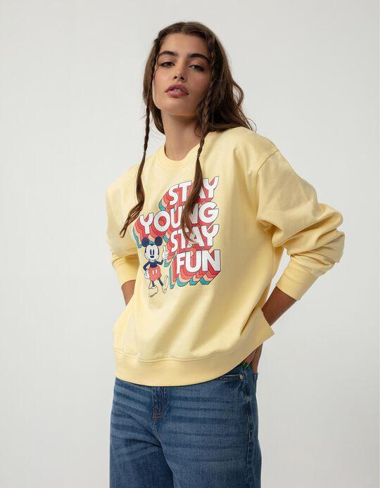 Disney Carded Sweatshirt, Women, Light Yellow