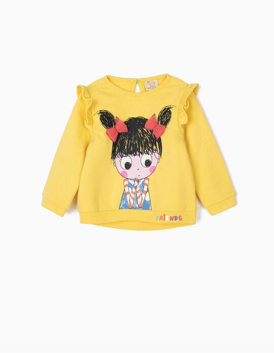 Sweatshirt para Bebé Menina 'Friends', Amarelo
