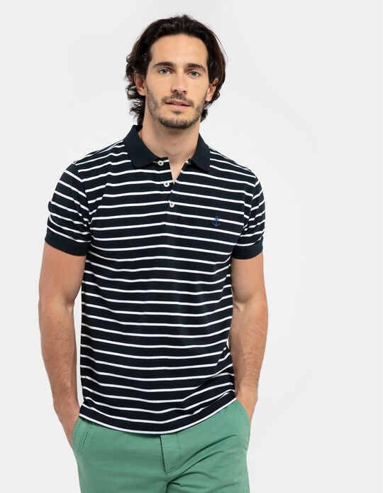 Striped Polo Shirt, Anchor