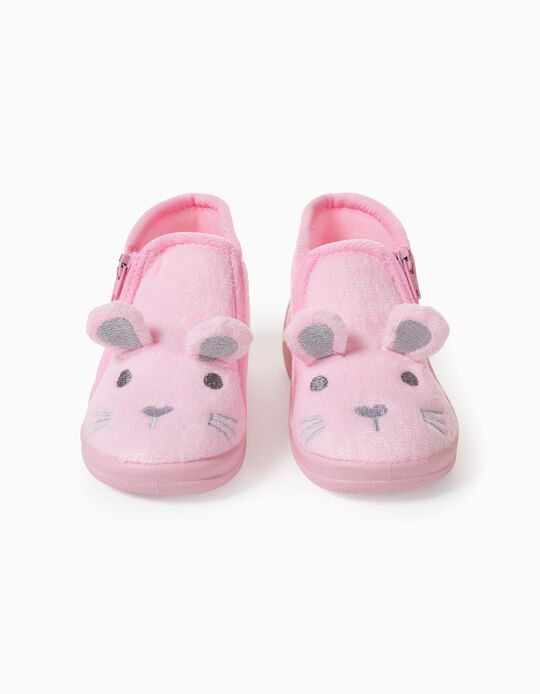 Slippers for Baby Girls, 'Bunny', Pink