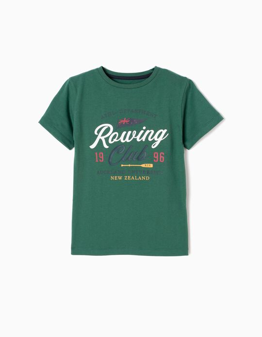 T-Shirt, Rowing Club, Green