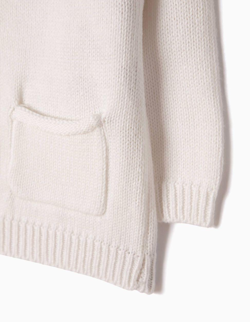 Casaco de Malha Branco