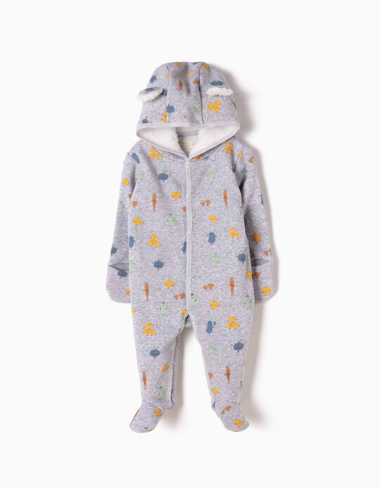 Babygrow com Capuz Veggies & Fruits