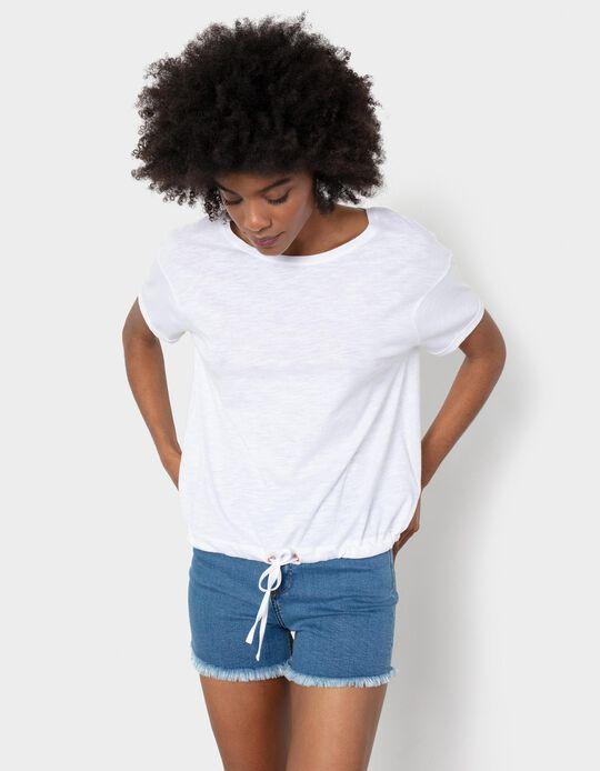 T-shirt com Cordão, Mulher