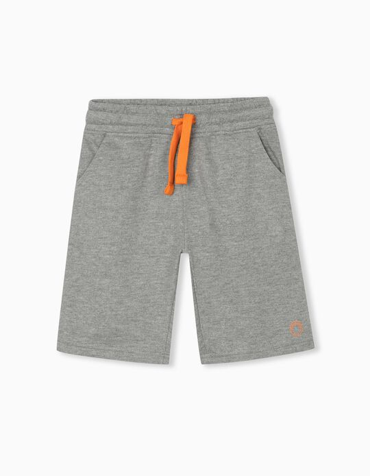 Jogger Shorts for Boys, Grey