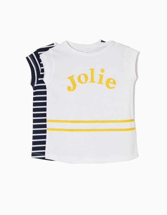Pack 2 T-shirts Manga Curta Jolie
