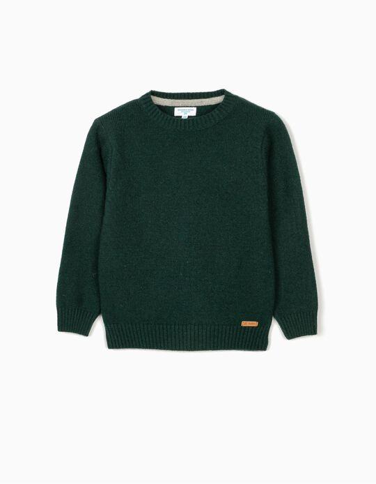 Woollen Jumper for Boys 'B&S', Green