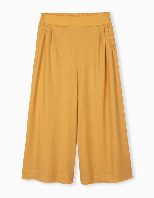 Fluid Culottes, Yellow