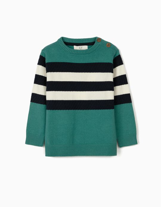Striped Jumper for Baby Boys, Blue