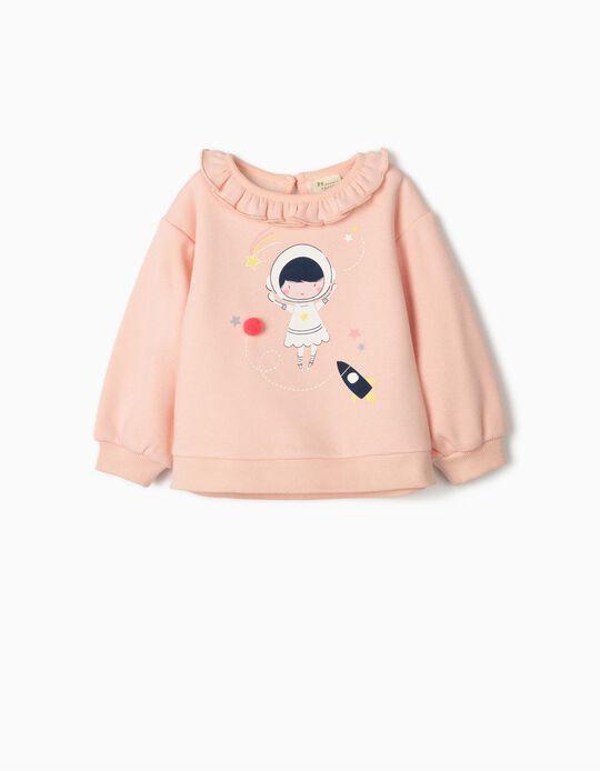 Sweatshirt para Bebé Menina 'Astronaut Girl', Rosa