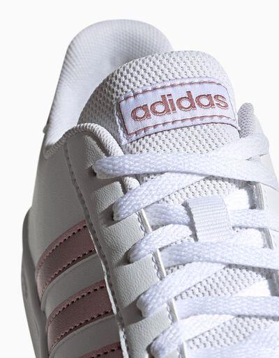 Sapatilhas Adidas Gr Court K com listas em dourado