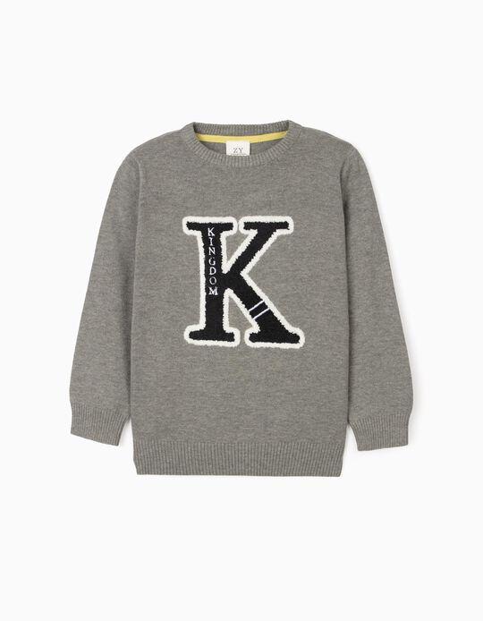 Jumper for Boys 'Kingdom', Grey
