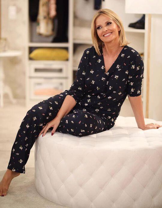 Conjunto de pijama estampado floral