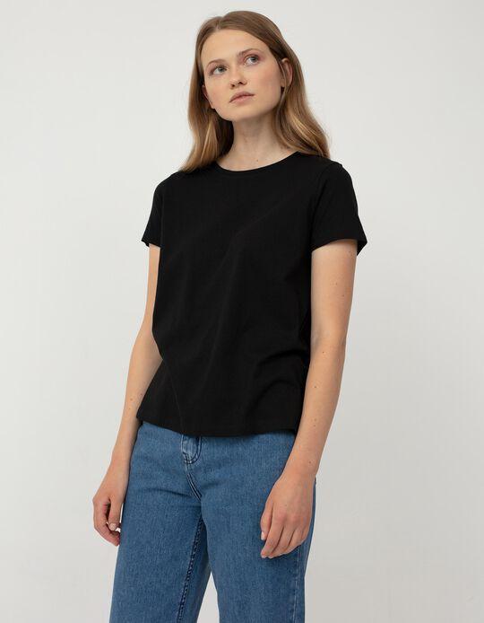 Basic T-shirt for Women, Black