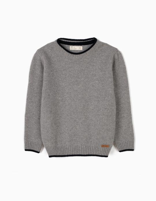 Camisola de Lã Cinzenta