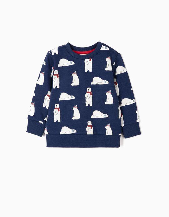 Sweatshirt for Baby Boys 'Bears', Blue