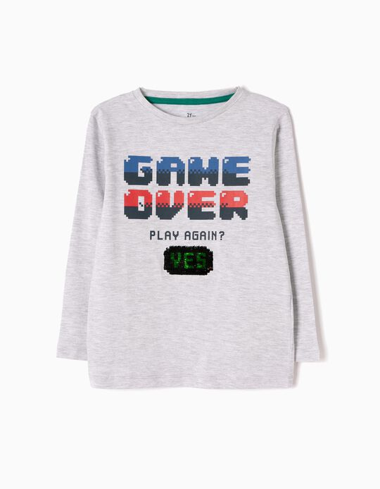 T-shirt Manga Comprida Game Over