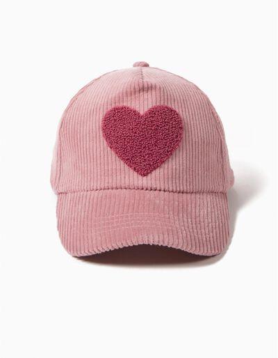 Boné Bombazine Rosa Coração