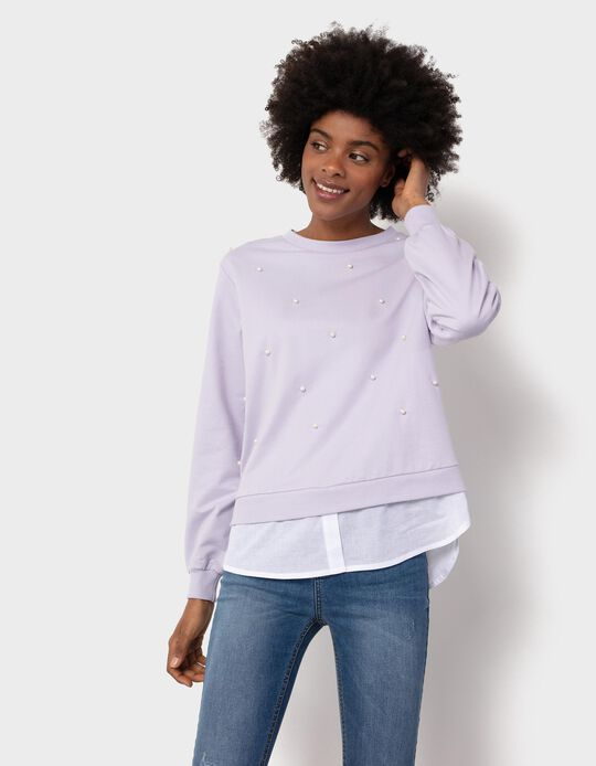 Sweatshirt with Pearls, for Women