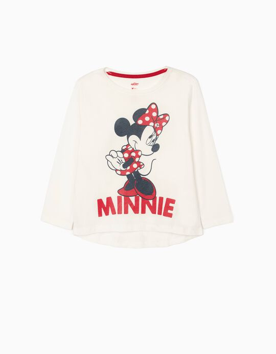 Long Sleeves T-Shirt for Girls 'Minnie', White