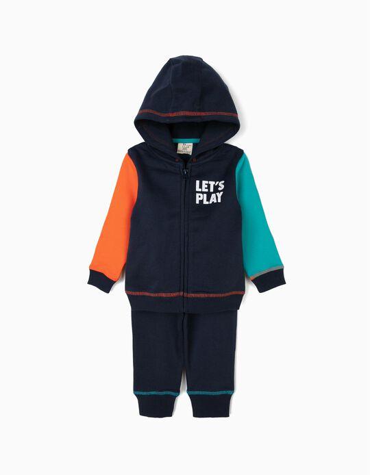 Fato de Treino para Bebé Menino 'Let's Play', Azul Escuro