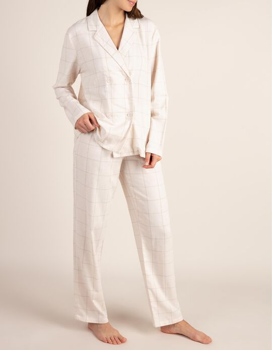 Conjunto de pijama aos quadrados