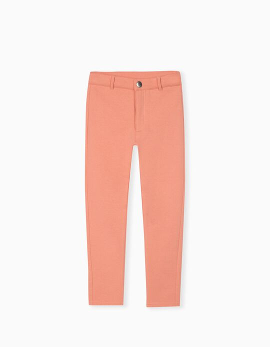 Knitted Trousers for Girls, Pink