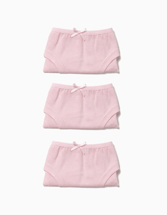3-Pack Hipster Briefs for Girls, Pink