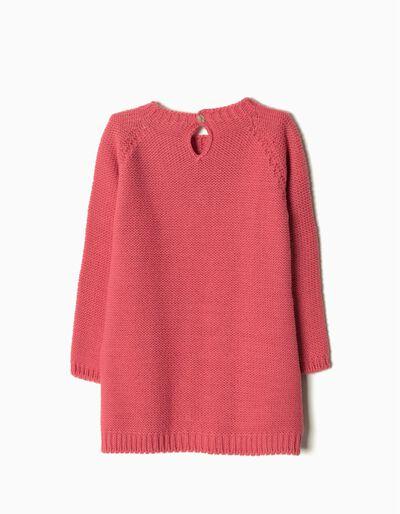 Vestido malha cabo rosa
