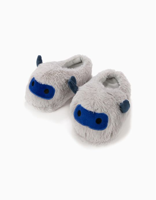 Plush Mule Slippers, Little Monster