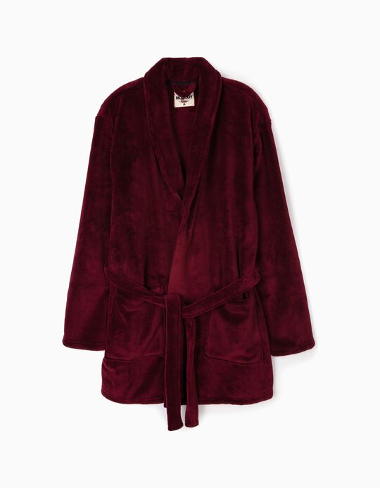 Short Dressing Gown with Belt
