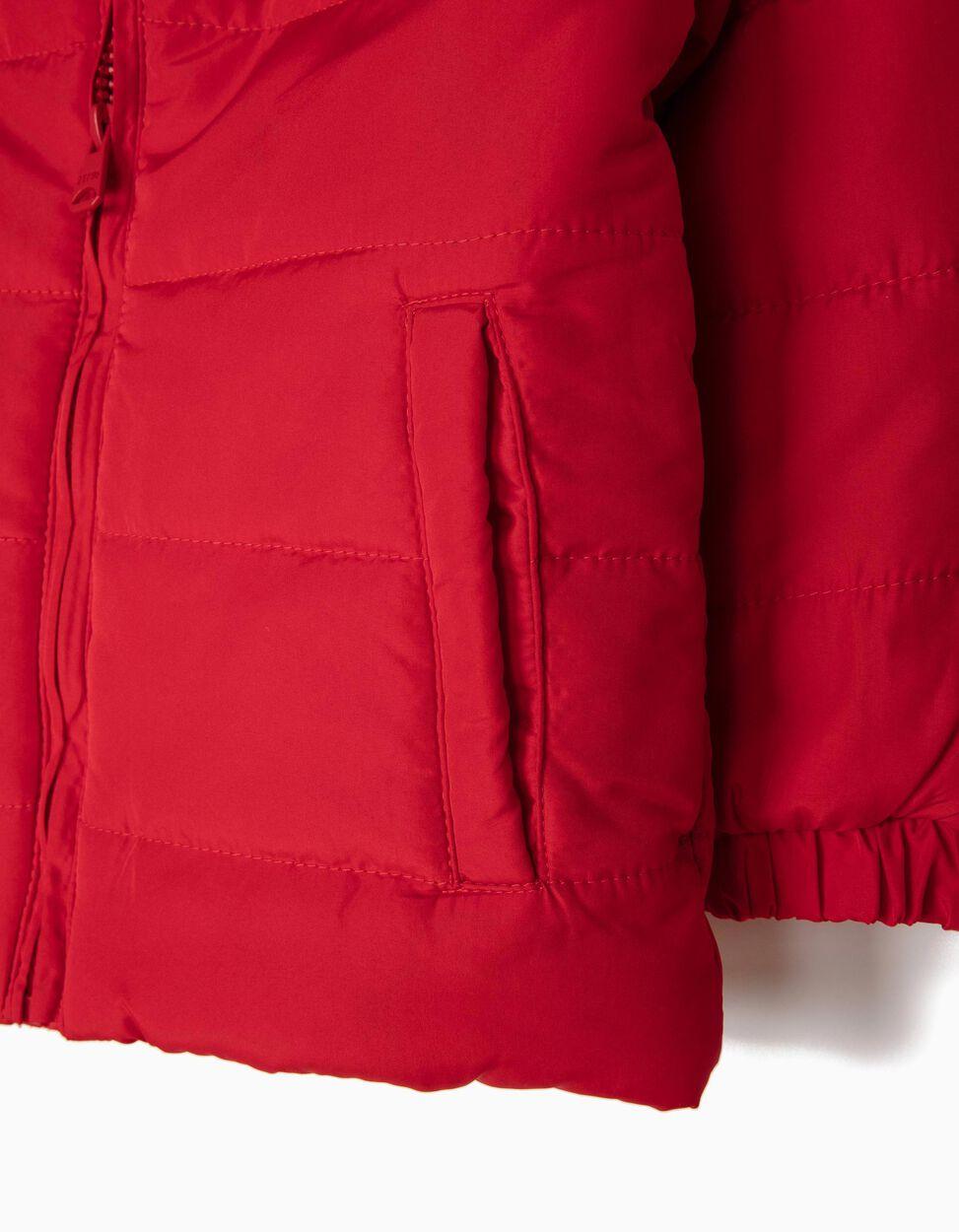Blusão com Enchimento Vermelho
