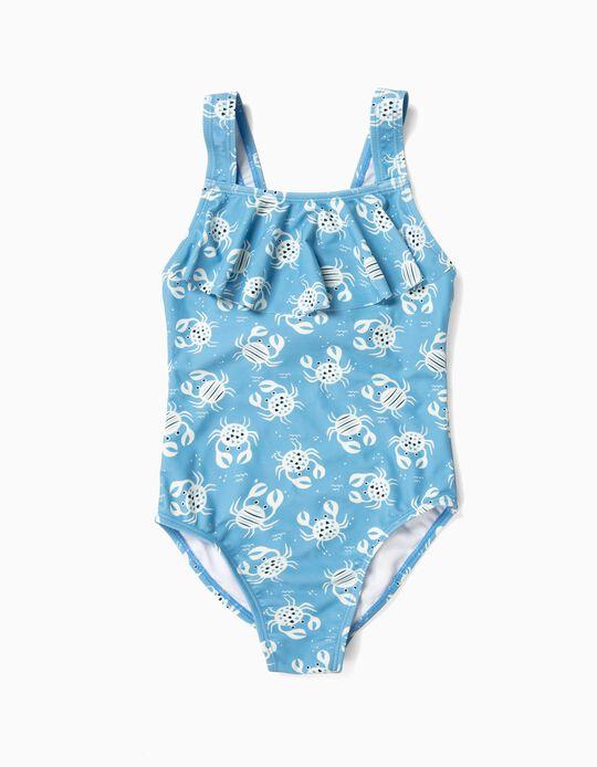 Fato de Banho para Menina 'B&S' Caranguejos Anti-UV 80, Azul