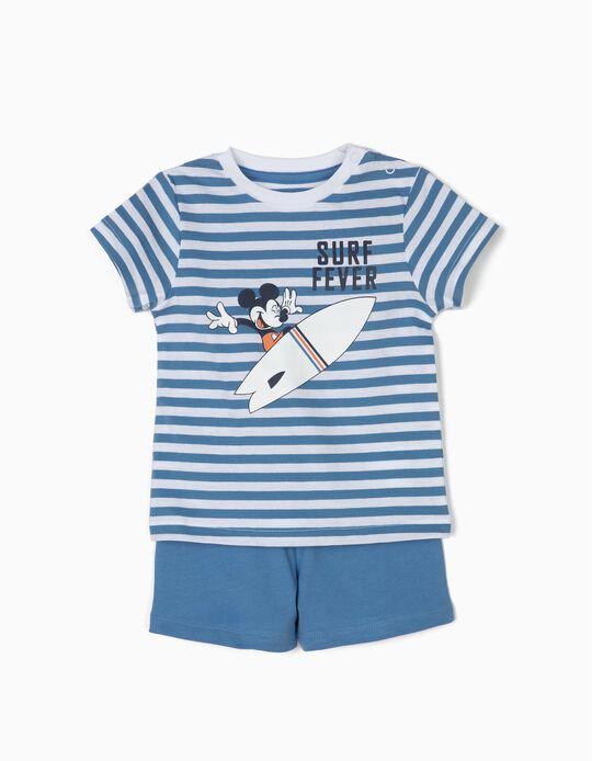 Pijama para Bebé Menino 'Mickey Surf Fever', Azul e Branco