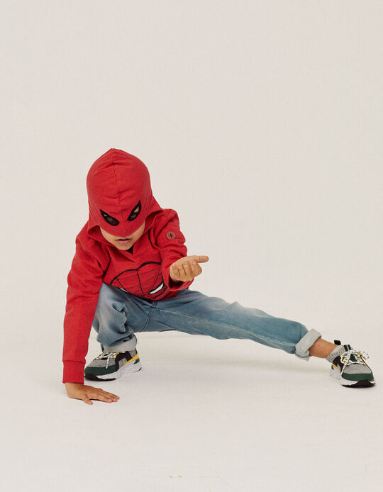 Hoodie with Mask for Boys, 'Spider-Man', Red