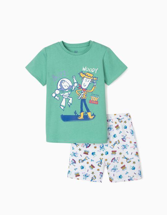 Pyjamas for Boys, 'Toy Story', Green/White